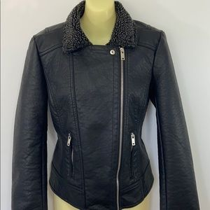 Maralyn & Me Faux Leather  Bomber Jacket NWT Sm